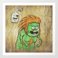 RSxSF series - Muscle Man & High Five Ghost Art Print