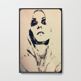 Taylor Momsen Etching Metal Print
