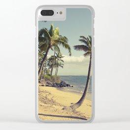 Maui Lu Beach Kihei Maui Hawaii Clear iPhone Case