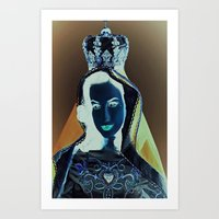 madonna Art Prints featuring madonna by Mike Fernandez