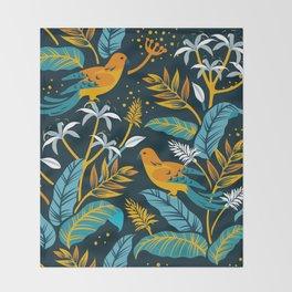 Birds in the night Throw Blanket
