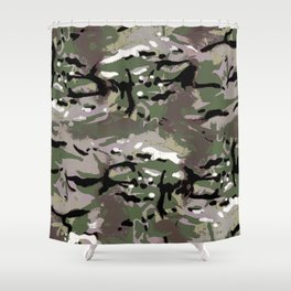 Camo Camo, and the art of disappearing. Shower Curtain