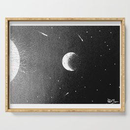 """""""Far Out, Man"""" Hand-Drawn by Dark Mountain Arts Serving Tray"""