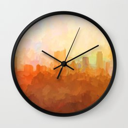 Austin, Texas Skyline - In the Clouds Wall Clock