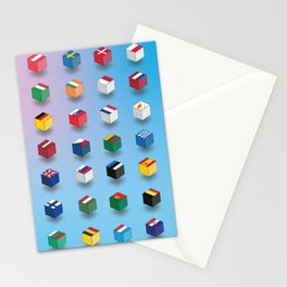 European Union flags Stationery Cards