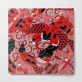Washi Red Metal Print