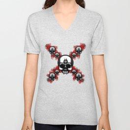 Original Errorface Skull cross Unisex V-Neck