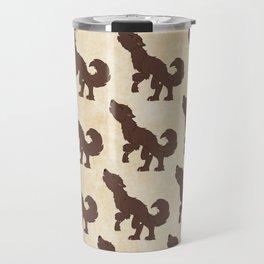 Werewolf Pattern Travel Mug