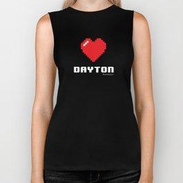 8 Bit Heart Dayton Biker Tank