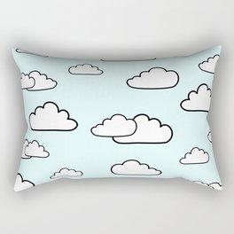 Puffy Clouds Rectangular Pillow