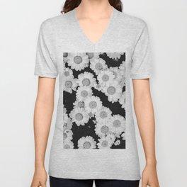 The Daisy Garden (Black and White) Unisex V-Neck