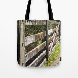Wooden Farm Gate And Fence Tote Bag