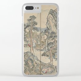 Orchid Pavilion Gathering Clear iPhone Case