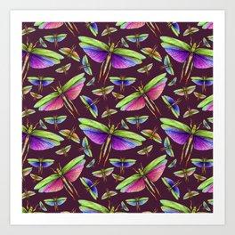 Colorful Bugs Art Print