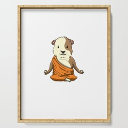 Keep Calm And Love Guinea Pigs|Meditation Buddhism Zen Cavy Serving Tray