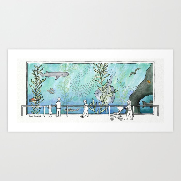 Kelp Forest Tank Art Print