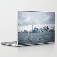 toronto Laptop & iPad Skins featuring Toronto by L. Doan