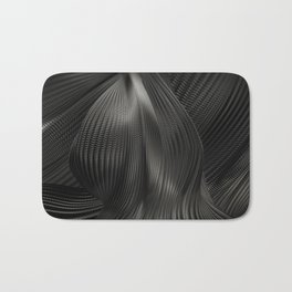 Black Steel Abstraction Bath Mat