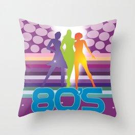 80's Throw Pillow