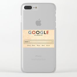 Google Vintage Clear iPhone Case