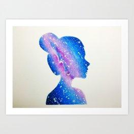 Galaxy Girl Art Print