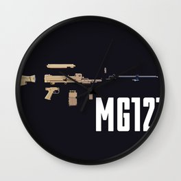 Machine Gun Wall Clock
