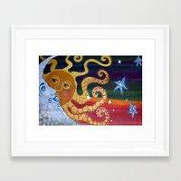 celestial Framed Art Prints featuring Celestial by Laura Barbosa Art