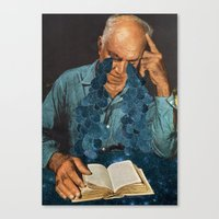 poetry Canvas Prints featuring Poetry by David Delruelle