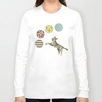 games Long Sleeve T-shirts featuring Ball Games by Cassia Beck