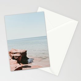 Pink rock ocean Stationery Cards