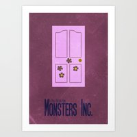 monsters inc Art Prints featuring Monsters Inc. by Matt Bacon