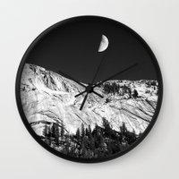 yosemite Wall Clocks featuring Yosemite by Claude Gariepy