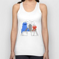 elmo Tank Tops featuring Han Elmo and the Wookie Monster by NathanJoyce