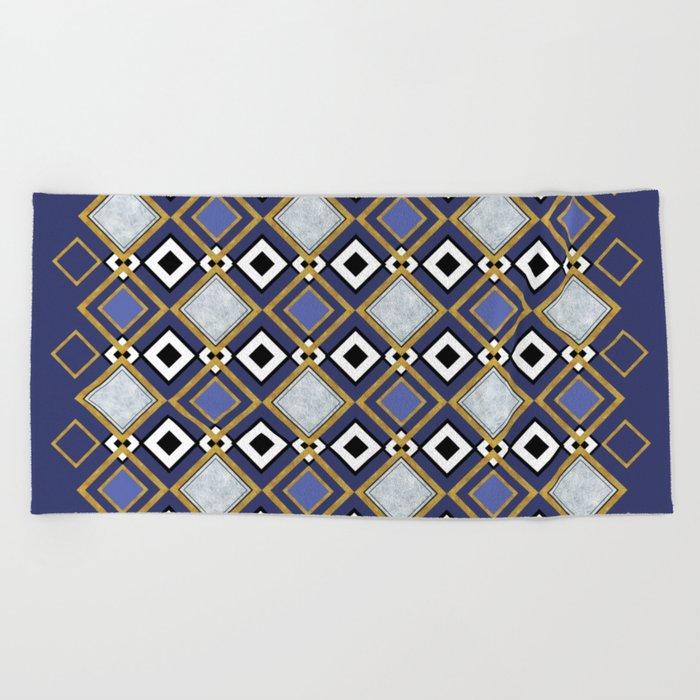 Purple Jade Beach Towel