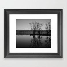 Mississippi mirror Framed Art Print