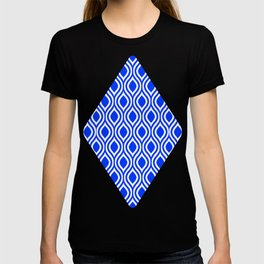 Blue Modern Classic Seamless Pattern T-shirt