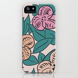 Artdeco flowers iPhone Case