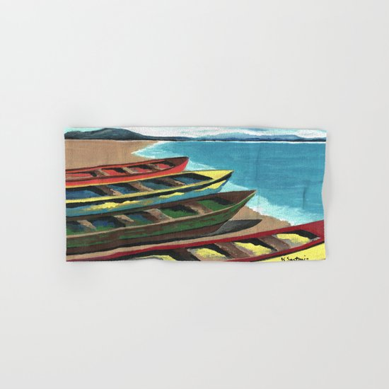 Boats In A Row Hand & Bath Towel