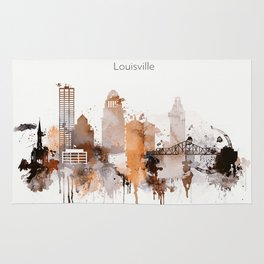 Vintage Louisville skyline design Rug
