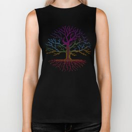 Rainbow Chakra Tree of Life - Real Stitch-able Color Coded Cross Stitch Chart Biker Tank
