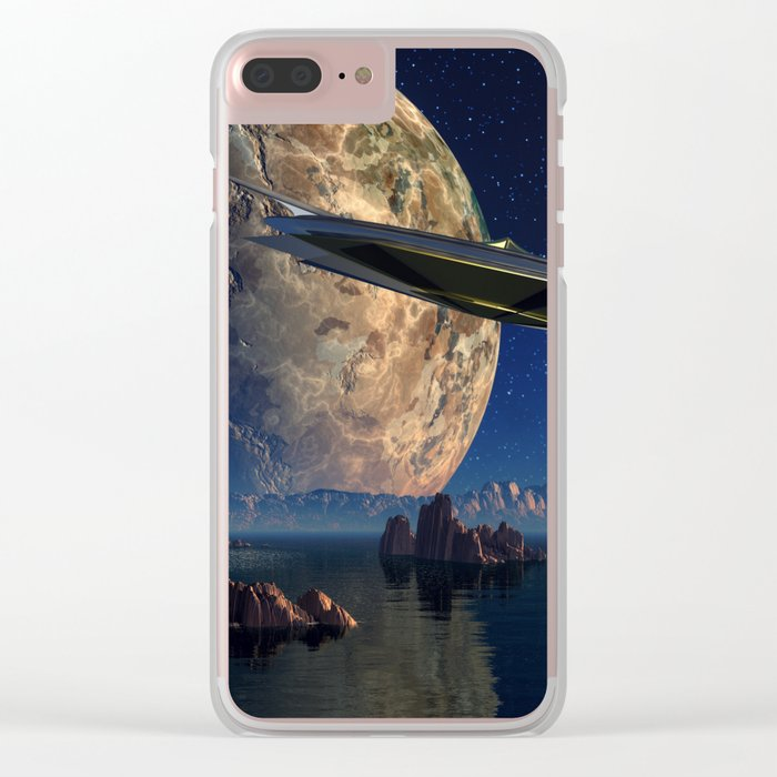 Future Landscape Clear iPhone Case