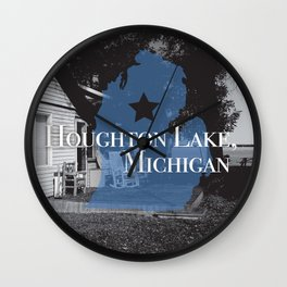 Houghton Lake, MI Wall Clock