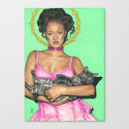 Lady Rihanna Canvas Print