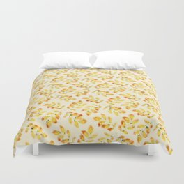 Pattern leaves at Autumn Duvet Cover