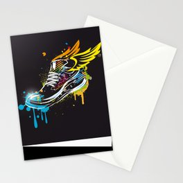 cool sneaker graffiti with wings Stationery Cards