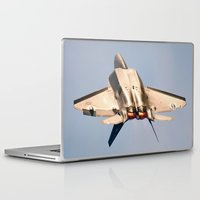 aviation Laptop & iPad Skins featuring Aviation F-22 Raptor Air Show USAF by Aviator