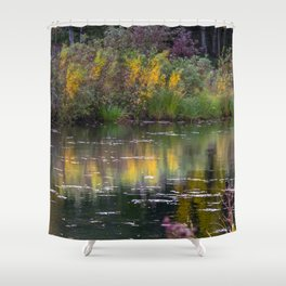 Channel in the Fall Shower Curtain