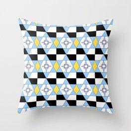 symetric patterns 46 -mandala,geometric,rosace,harmony,star,symmetry Throw Pillow