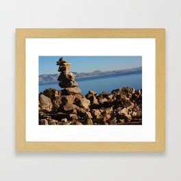 Stone Stack Framed Art Print