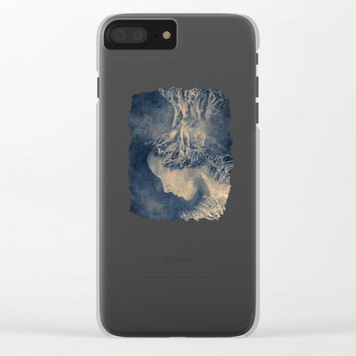 Dark portrait II  (colour option) Clear iPhone Case